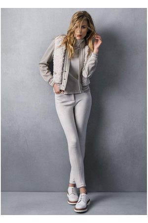 TRICOT CHIC Women Leather Trousers - Suede trousers