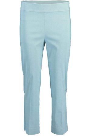 AVENUE MONTAIGNE Aqua Skinny Cropped Pant