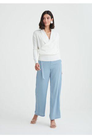 Paisie Marseille Striped Wide Leg Trousers