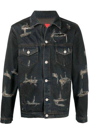 424 FAIRFAX Trucker distressed denim jacket