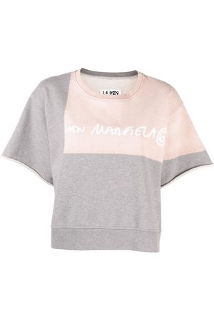 MM6 MAISON MARGIELA Women Tops - Logo-print short-sleeve sweatshirt