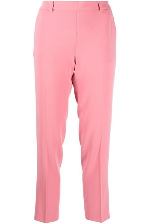 Alberto Biani Cropped press-crease slim trousers