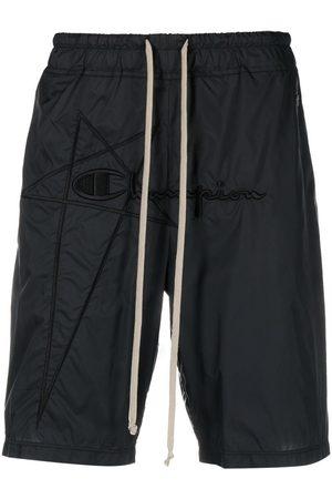 Rick Owens X Champion Men Sports Shorts - Logo-embroidered drawstring shorts