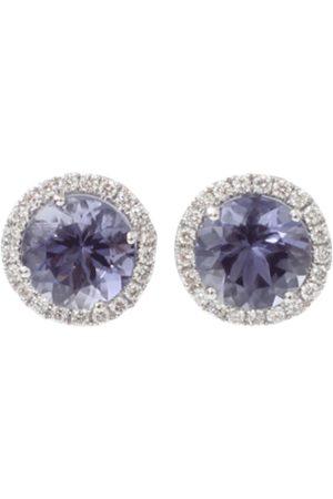 Dana Rebecca Designs Anna Beth Iolite Stud Earrings With Diamond Pave