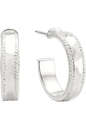 Anna Beck Small hammered Hoops