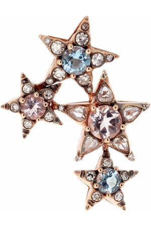 SELIM MOUZANNAR Diamond and Aquamarine Stars Earring