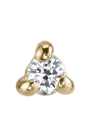 Lizzie Mandler Mini White Diamond Piercing Stud - Yellow