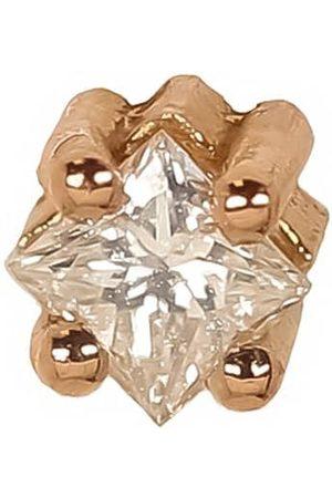 Lizzie Mandler Rose Gold Princess Cut Diamond Stud