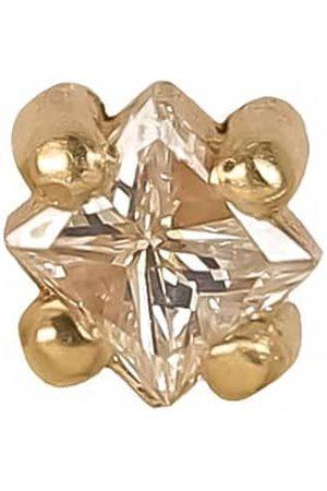 Lizzie Mandler Yellow Princess Cut Diamond Stud