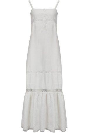 Gold Hawk Lili Linen Tie Long Dress in Dove