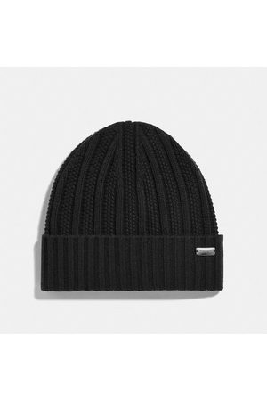 Coach Cashmere Seed Stitch Knit Hat in - Size ONE