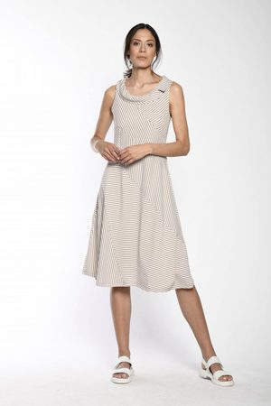 Simclan DRESS WITH COLLAR OLIVE