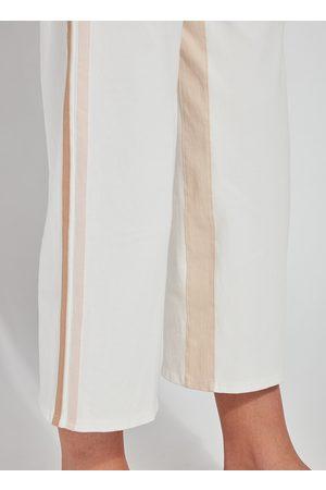 Lysse Women Wide Leg Trousers - Lyss Opal Wide Leg Crop Trouser - Off with Trim