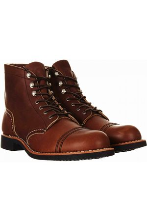 Red Wing Women Boots - Women's 3365 Heritage Iron Ranger Boot - Amber Harness Leathe