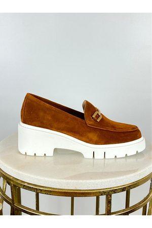unisa Jaulin Platform Loafer Tan