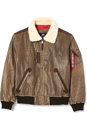 Alpha Industries Men Leather Jackets - Injector III Leather Vintage Brown