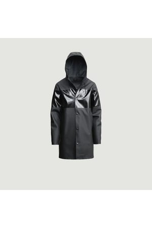 Stutterheim Stockholm Stripe hooded raincoat opal