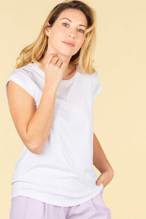 ABSOLUT CASHMERE Jeanne Cap Sleeve Tee in
