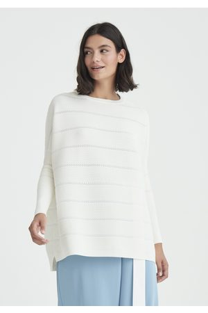 Paisie Women Jumpers - Ribbed Jumper with Crochet Detail