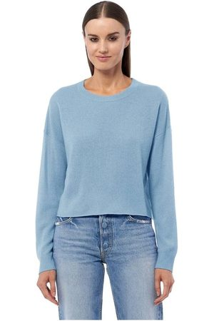 360CASHMERE Women Jumpers - Lynne Classic Crew Neck Knit Colour: Catalina