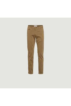 Knowledge Cotton Apparal Chuck Straight cut Chino Pants Burned Olive Knowledge Cotton Apparel