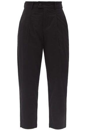 Bogner Cory High-rise Pleated Cotton-blend Trousers - Womens