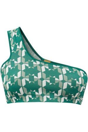DODO BAR OR Sherry One-shoulder Geometric-jacquard Cropped Top - Womens - Multi