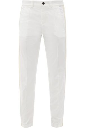 Bogner Eddi Side-stripe Cotton-blend Slim-leg Trousers - Womens