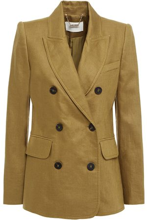 ZIMMERMANN Women Blazers - Woman Double-breasted Linen Blazer Army Size 0