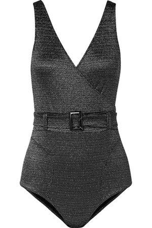 Lisa Marie Fernandez Women Swimsuits - Woman Yasmin Belted Metallic Swimsuit Size 0