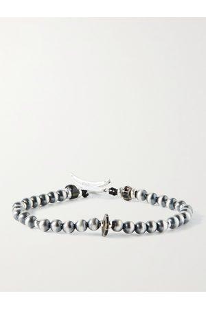 Mikia Men Bracelets - Sterling and Glass Beaded Bracelet