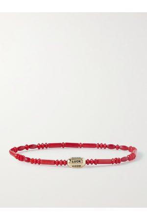 LUIS MORAIS Men Bracelets - 14-Karat Gold Malachite Beaded Bracelet