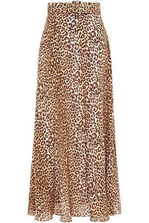 ZIMMERMANN Women Maxi Skirts - Woman Leopard-print Silk Crepe De Chine Maxi Skirt Animal Print Size 0