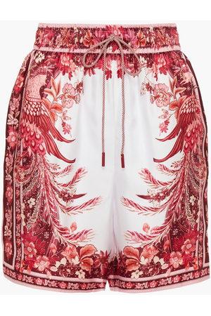 ZIMMERMANN Women Shorts - Woman Printed Silk-satin Twill Shorts Size 0