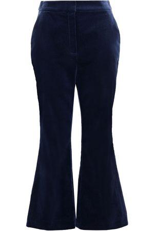 ZIMMERMANN Women Wide Leg Trousers - Woman Cotton-velvet Kick-flare Pants Navy Size 0