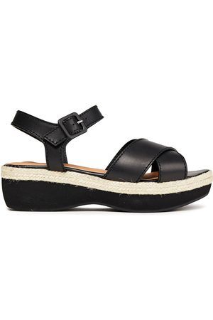 Castaner Women Sandals - Castañer Woman Wilma Leather Platform Sandals Size 36