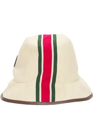 Gucci Canvas Fedora Hat W/web Stripe