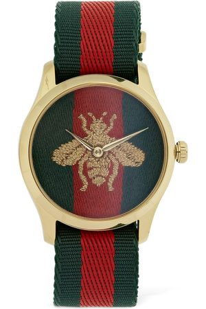 Gucci 38mm Web & Bee Motif Watch