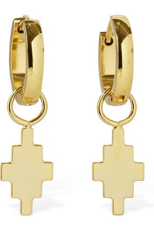 MARCELO BURLON Cross Pendant Hoop Earrings