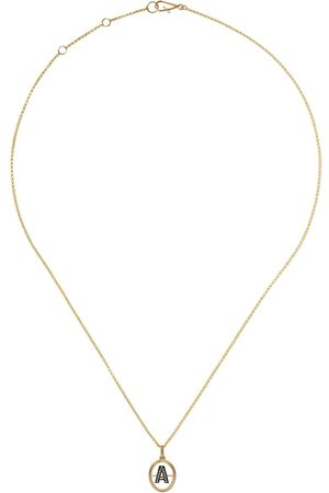 Annoushka Women Necklaces - 14kt and 18kt A diamond initial pendant necklace - 18ct