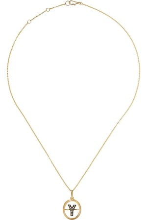 Annoushka 14kt and 18kt Y diamond initial pendant necklace - 18ct