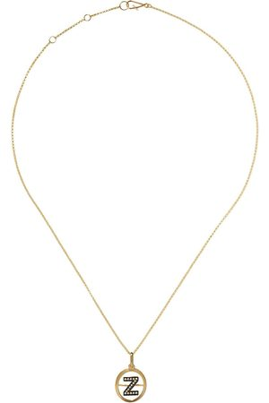 ANNOUSHKA 14kt and 18kt Z diamond initial pendant necklace - 18ct