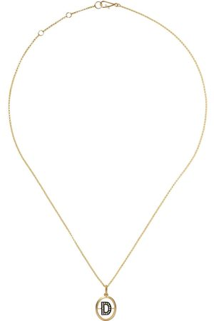 Annoushka 14kt and 18kt D diamond initial pendant necklace - 18ct
