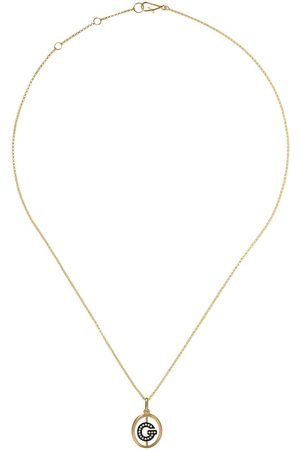 ANNOUSHKA 14kt and 18kt G diamond initial pendant necklace - 18ct