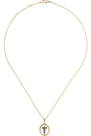 ANNOUSHKA Women Necklaces - 14kt and 18kt T diamond initial pendant necklace - 18ct