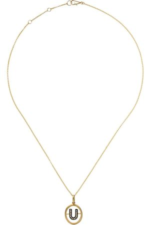 ANNOUSHKA 14kt and 18kt diamond U initial pendant necklace - 18ct