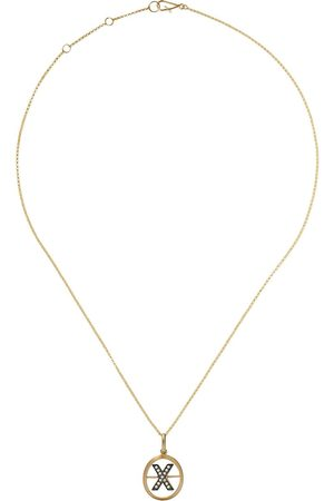 Annoushka 14kt and 18kt X diamond initial pendant necklace - 18ct