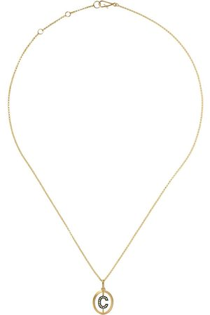 Annoushka 14kt and 18kt C diamond initial pendant necklace - 18ct