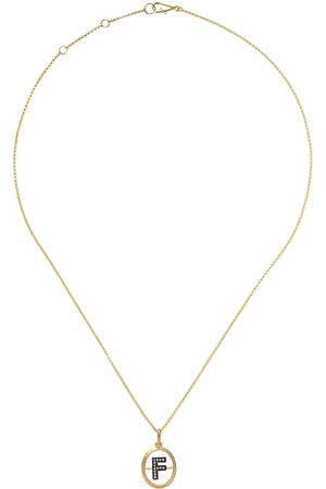 Annoushka 14kt and 18kt F diamond initial pendant necklace - 18ct