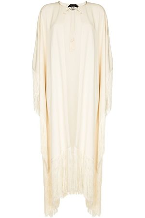 Taller Marmo Fringed-edge long tunic - Neutrals